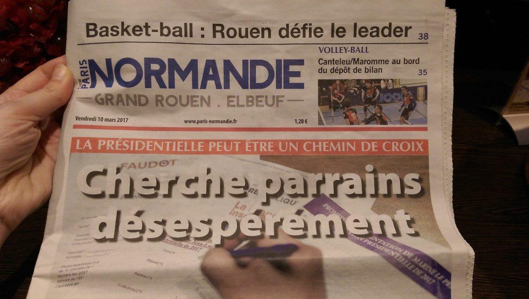 Journal Normandie : Cherche parrains désespérément