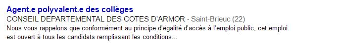 Petite annonce Département des Côtes d'Armor